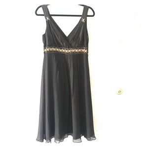 Chiffon Cocktail Dress with Gold Beads/Sequins